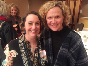 Oregon-Columbia IABC Board Member Marie Gettel-Gilmarten with speaker Kim Malek of Salt & Straw